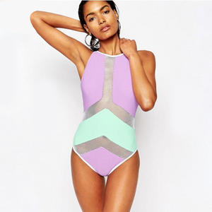 ecfd221b2a Women Swimwear One Piece Swimsuit Bathing Suit 2018 High Neck Swimming Suit