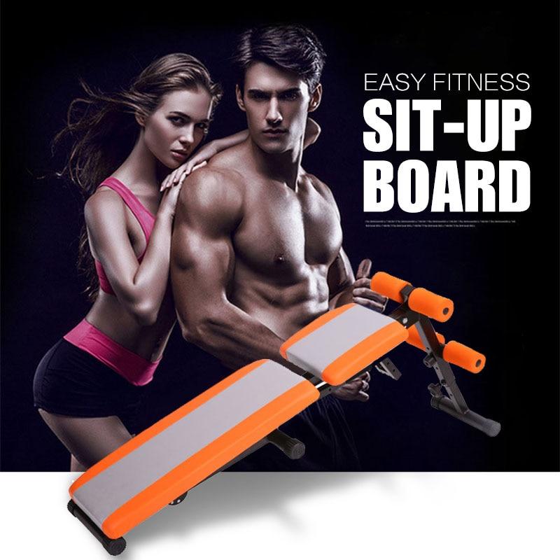 Бытовая многофункциональная скамейка для сидения Регулируемая уклон Брюшная скамья для упражнений с гантелями Crunch Board Стул фитнес оборудование