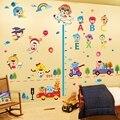 2015 educação precoce Do Bebê adesivos quarto sala de estar das crianças adesivos de parede removível dos desenhos animados adesivos decorativos de parede