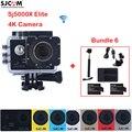 Original sjcam sj5000 série sj5000x elite wifi 30 à prova d' água esportes de ação da câmera + 2 bateria + carregador + monopé + carregador de carro + suporte