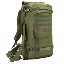hot deal buy 50l tactical shoulder bag military camping hunting bags mountaineering backpack water-proof nylon bucket shoulder bags m65