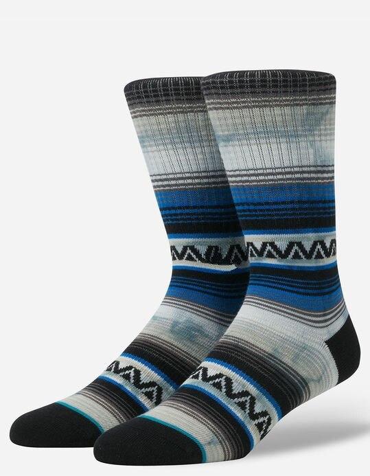 Mens Skate Tie Dye Bohemia Strip Crew Socks USA Size M(6-8.5),L( 9-12) ,Euro Size 39-41.5,42-45