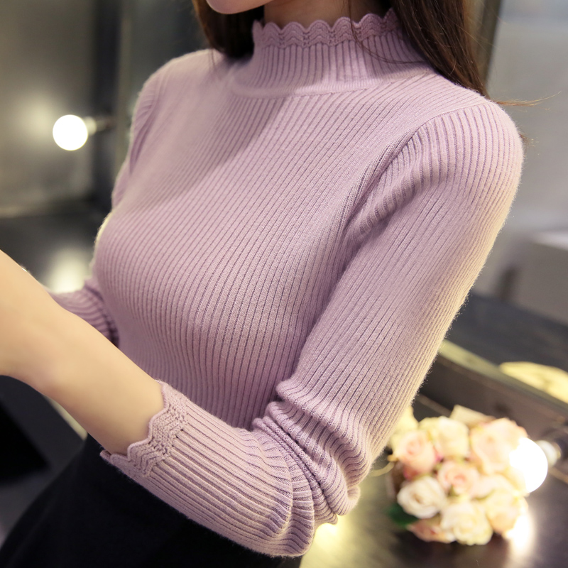 OHCLOTHING 2018 Otoño Moda suéter de las mujeres sexy delgado - Ropa de mujer