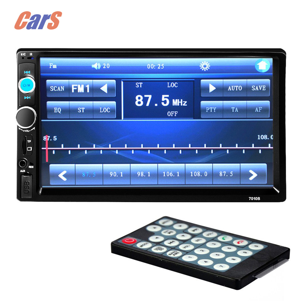 New 7 HD font b car b font radio MP5 player support the USB TF card