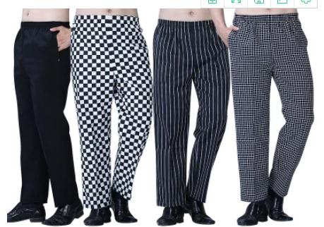 Free Shipping 2018 Fashion Cook Pants Hot Sale Work Wear Black And White Grid  Chef Pants Cheapest Chef Trousers Uniforms Men