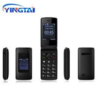 YINGTAI T30 Старший флип телефона GSM большой Кнопка старик двойной Экран Флип Мобильный телефон Dual Sim FM пожилых раскладушка телефона
