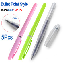 DELVTCH 0.5mm 5pcs/lot Gel Pen Refill Bullet Point tip Office Signature Red Blue Black Ink School Student Writing Supplies