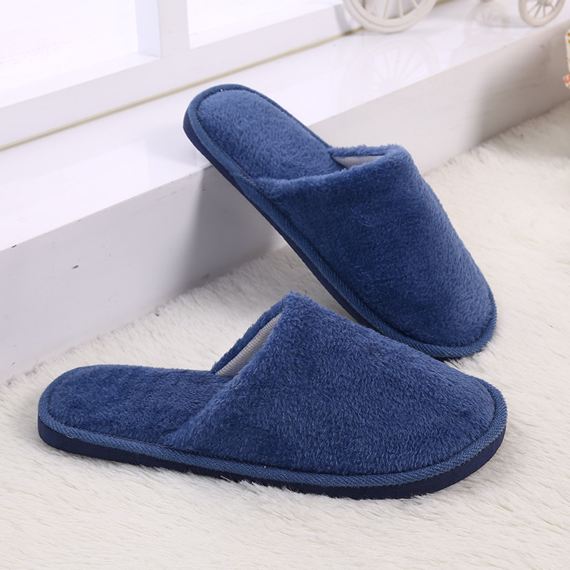 Candy Color Slippers For Women Winter Fleece House Shoes Floor Lovers Home Shoes Warm Soft Flats Men Shoes Indoor Slip-On Shoes