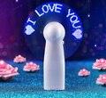 Creativo DIY emisor de luz de Flash de la palabra mini ventilador portátil de mano personalizado ventiladores LED buen regalo para el amante y amigo