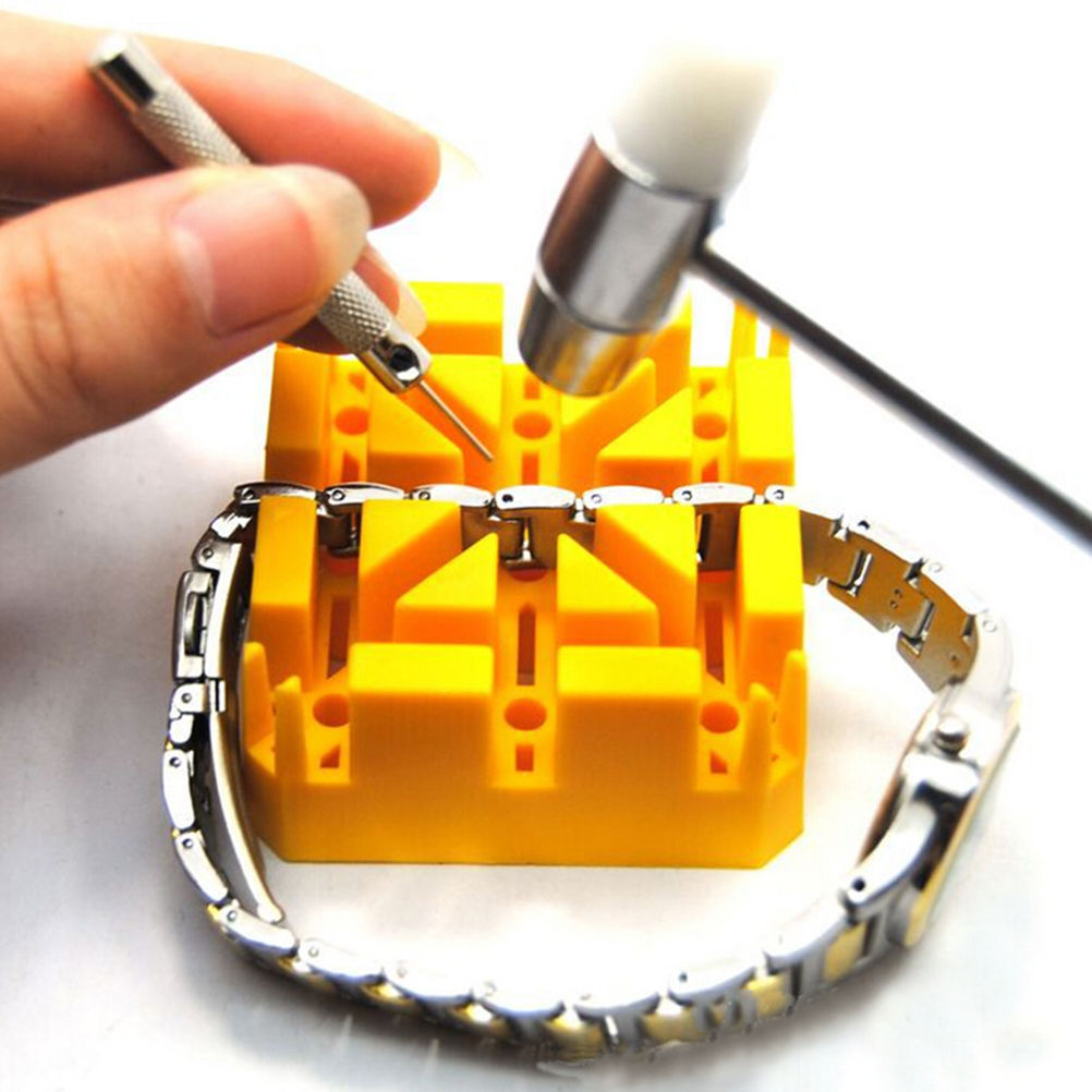 Watch Band Bracelet Holder Watch Repair Tools Outils Horlogerie Watch Strap Link Pin Remover Block Watchmaker Repair Kit