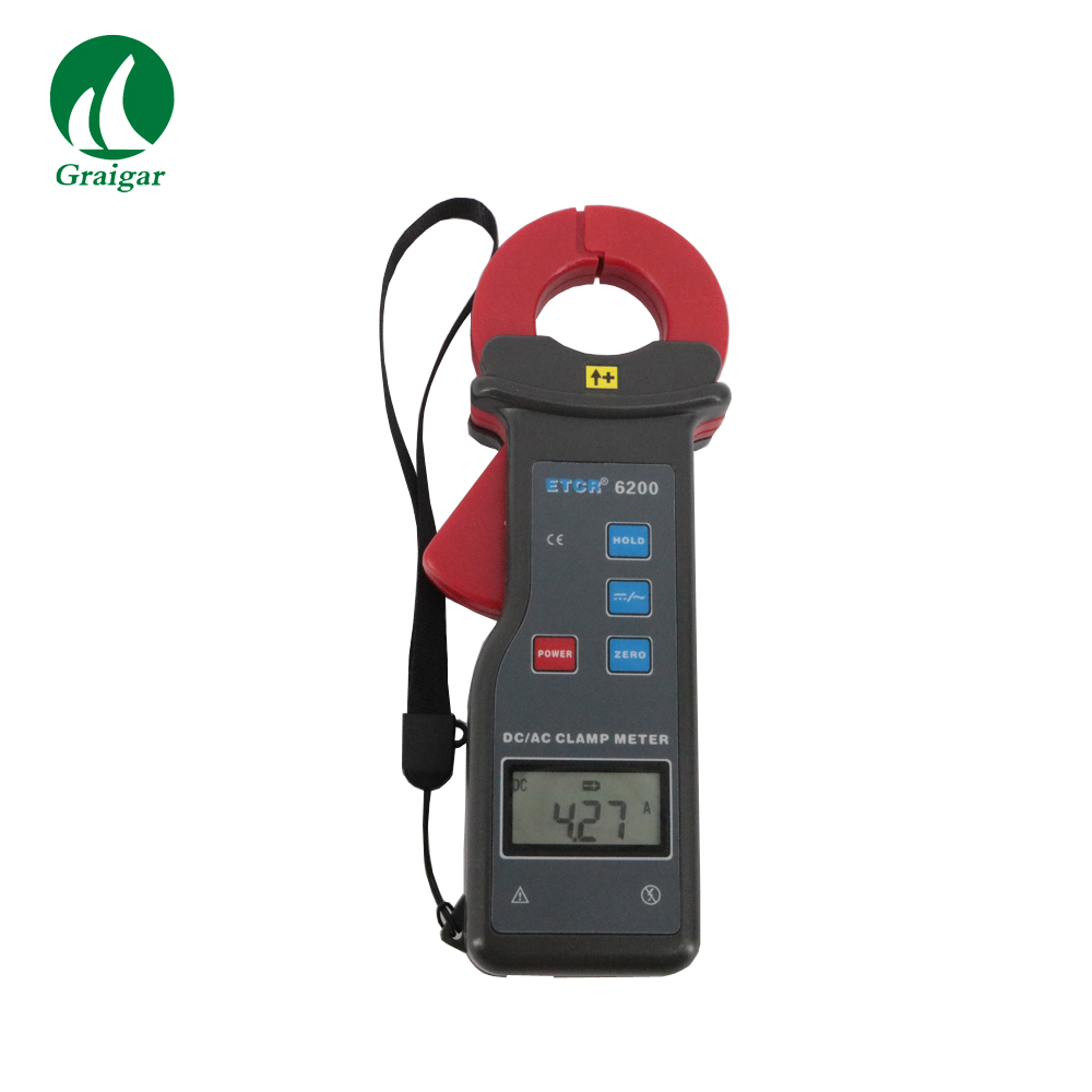 ETCR6200 AC DC Leakage Current Clamp Meter Clamp Size 25mmX35mm Frequency AC 45Hz-400HzETCR6200 AC DC Leakage Current Clamp Meter Clamp Size 25mmX35mm Frequency AC 45Hz-400Hz