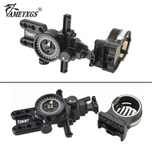 Archery 5pins Compound Bow Sight 0.019 Fiber Optic Micro Adjust Tommy Hogg Aiming Scope For Hunting Shooting Accessories