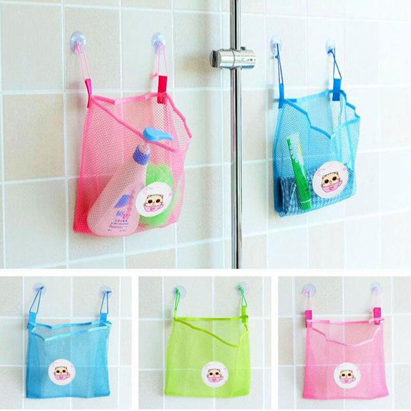 Baby Kinder Badewanne Spielzeug Tasse Tasche Mesh Bad Net Ordentlich Lagerung Saug Lagerung Spielzeug Saug Tasche Falten Hängenden Vakuum Kleidung Babywanne