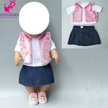 for Baby Doll clothes fur coat dress 18 inch girls doll winter outwear clothes sets kids play toys gifts(China)