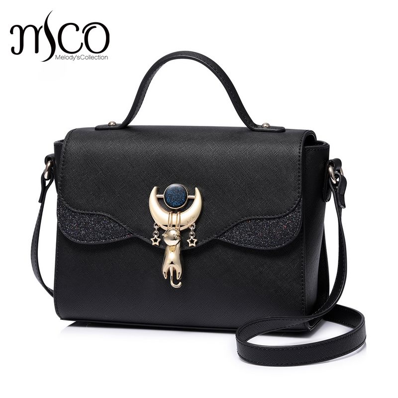 Just star designer brand luxury handbags women black Cat Shoulder bags sac a main femme clutch crossbody a bag bolsas feminina handbags women trapeze bolsas femininas sac lovely monkey pendant star sequins embroidery pearls bags pink black shoulder bag