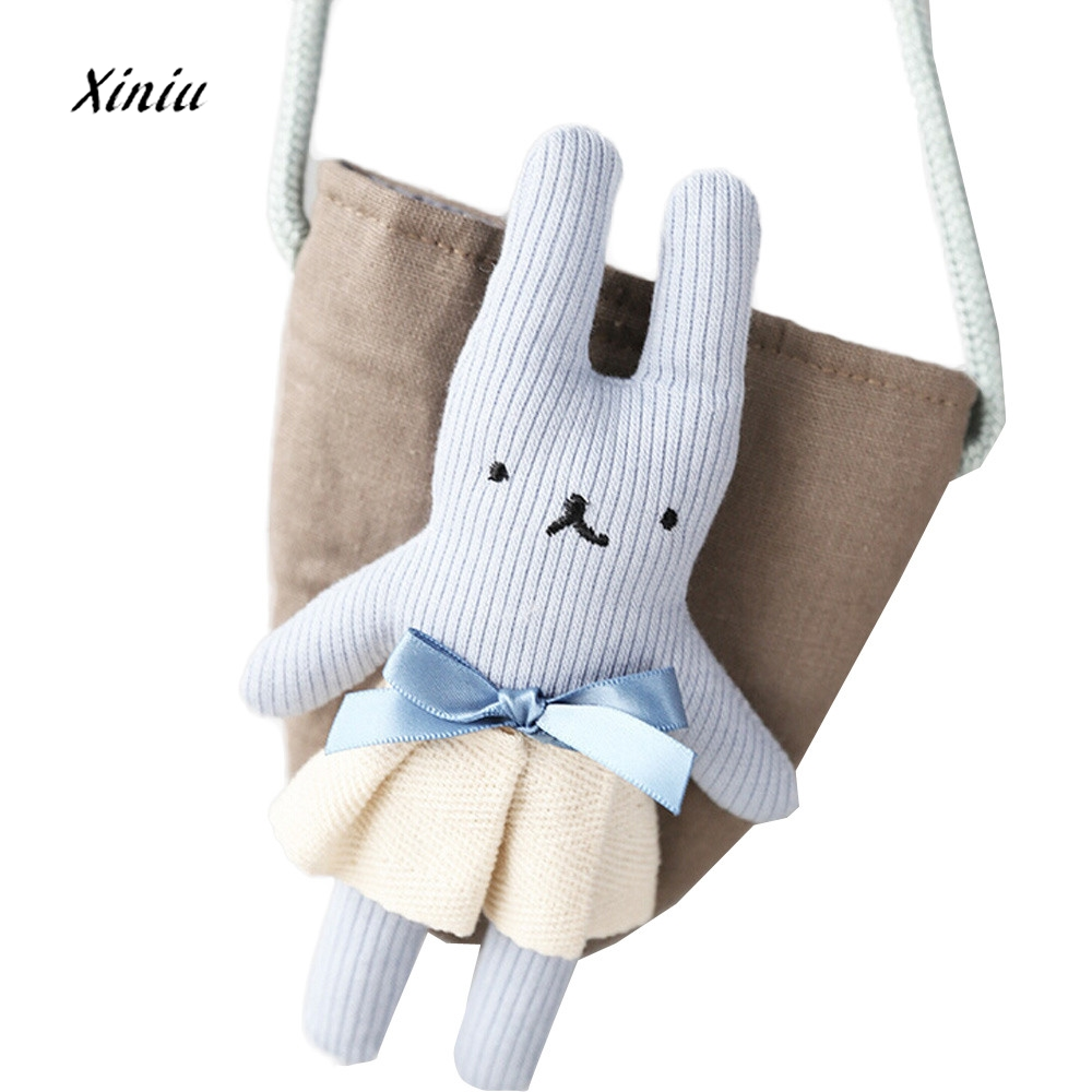 Baby Rabbit Fashion Cotton Coin Purse Cute Storage Bag Portable Comfortable Girls Ladies Casual Coin Change Money Small Wallet