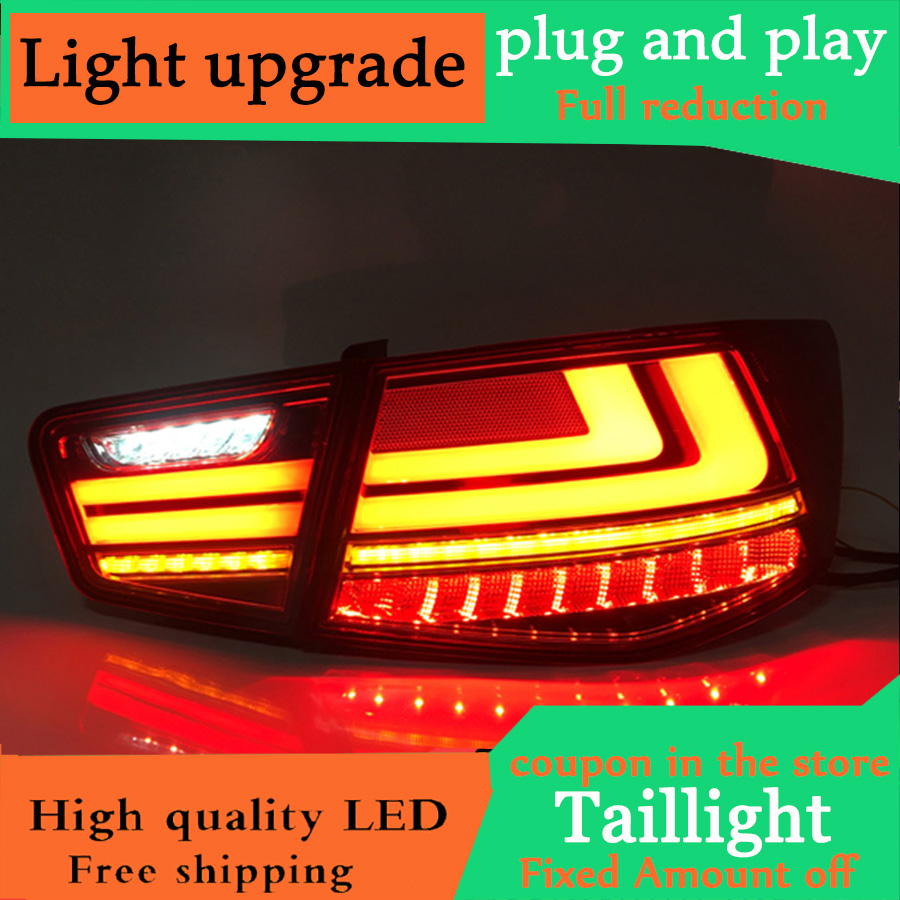 Dynamic turn signal taillight For Kia Forte led Tail light Assembly DRL Turn Signal Brake Reverse