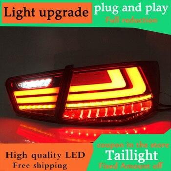 Dynamic turn signal taillight For Kia Forte led Tail light Assembly DRL+Turn Signal+Brake+Reverse+fog lights 2009-2013