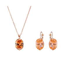 Wedding Pendant Choker Necklace Earrings For Women