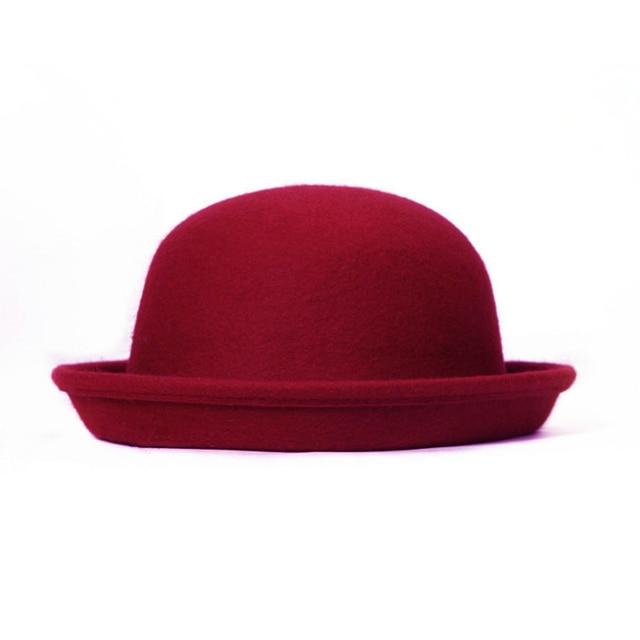d825805053d Fashion Vintage Men Women Fedora Dome Hat Roll Brim Bowler Derby Hat Cloche  Unisex Headwear Women hats Chapeu Feminino