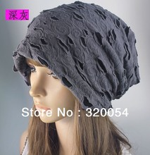 цены Free shipping 1pcs 2013 new Men and women fashion knitted cap  Holes do old style with velvet autumn winter warm hat wholesale