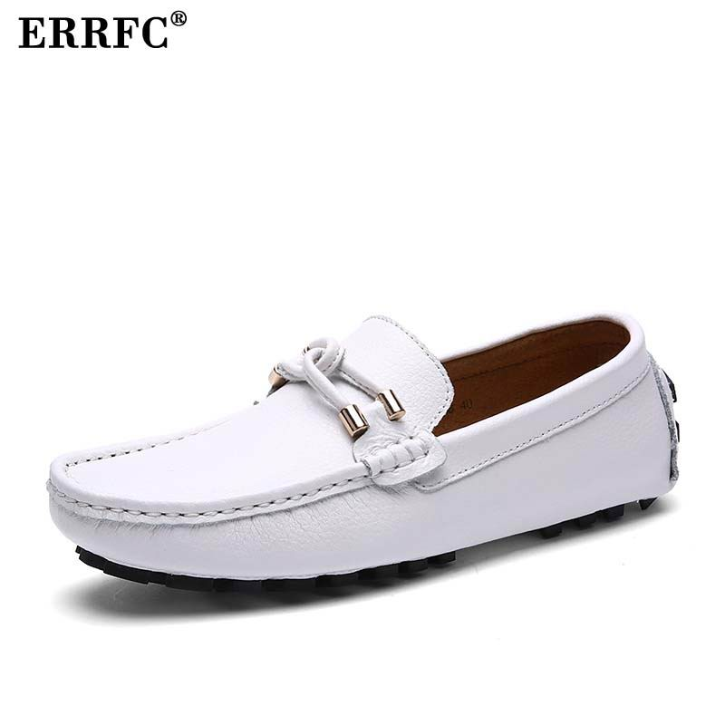 Men's Casual Shoes Discreet Errfc British Fashion White Loafer Shoes Men Slip On Pu Leather Casual Comfort Shoes Man Black Blue Driver Shoes Male Zapatos Mild And Mellow Back To Search Resultsshoes