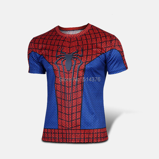 Marvel America red Spiderman Super Hero cycling jersey sport T-shirt Men  cosplay cycling clothing short sleeves XXS-5XL 635afde5a