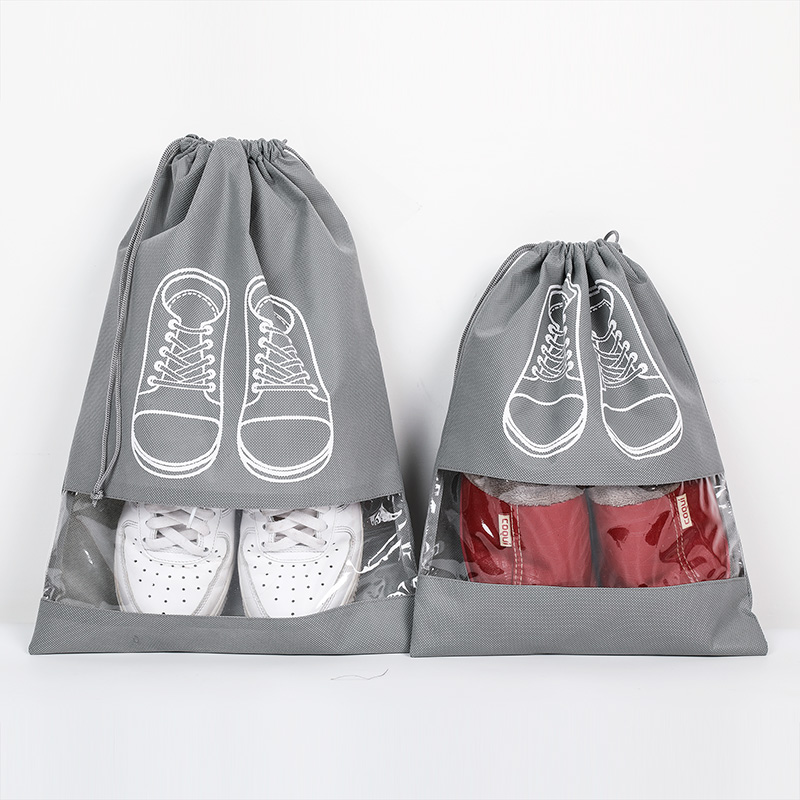 Waterproof Shoes Bag Travel Portable Dustproof Shoe Storage Bag Organize Tote Drawstring Bag Non-Woven Organizador