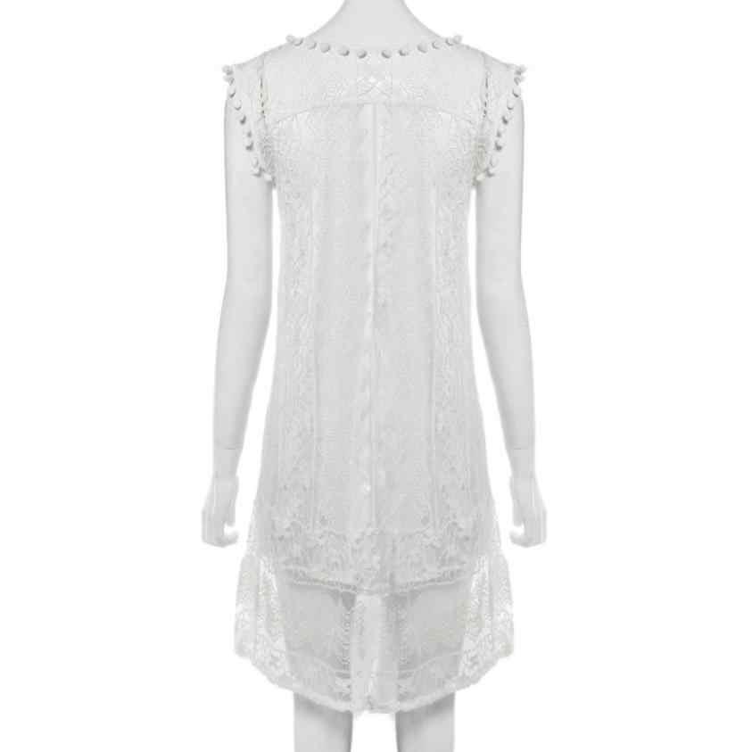 2020 חדש הגעה אישה מזדמן תחרה שרוולים חוף קצר שמלת ציצית מיני שמלות אופנה סקסי לבן שמלה קיצית נשים בגדים