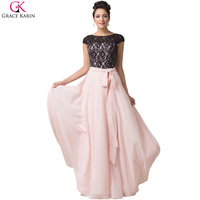Elegant Grace Karin A Line Lace Chiffon Wedding Party Ball Formal Evening Gowns Celebrity Dinner Prom