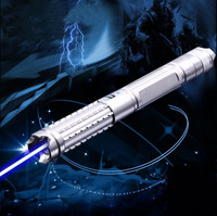 High Power 445nm 80000mw Burning Focusable Blue Laser Pointer With 5 Star Caps Adjust Focus To