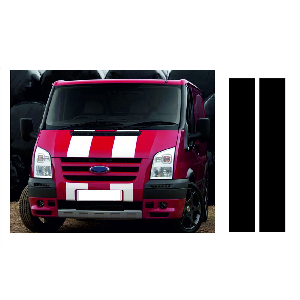 Automobile For Ford Bs229 Custom Transit Silver Cap Racing Stripes Decal Sticker Graphics Car Styling Accessories Df0567 Excellent Quality In