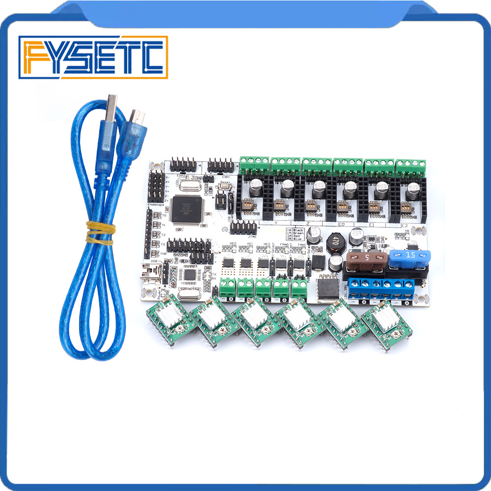 цена Rumba + all in one Board Control Card Rumba-board integrated Motherboard 2560 R3 Processor With 6pcs A4988 Stepper Driver