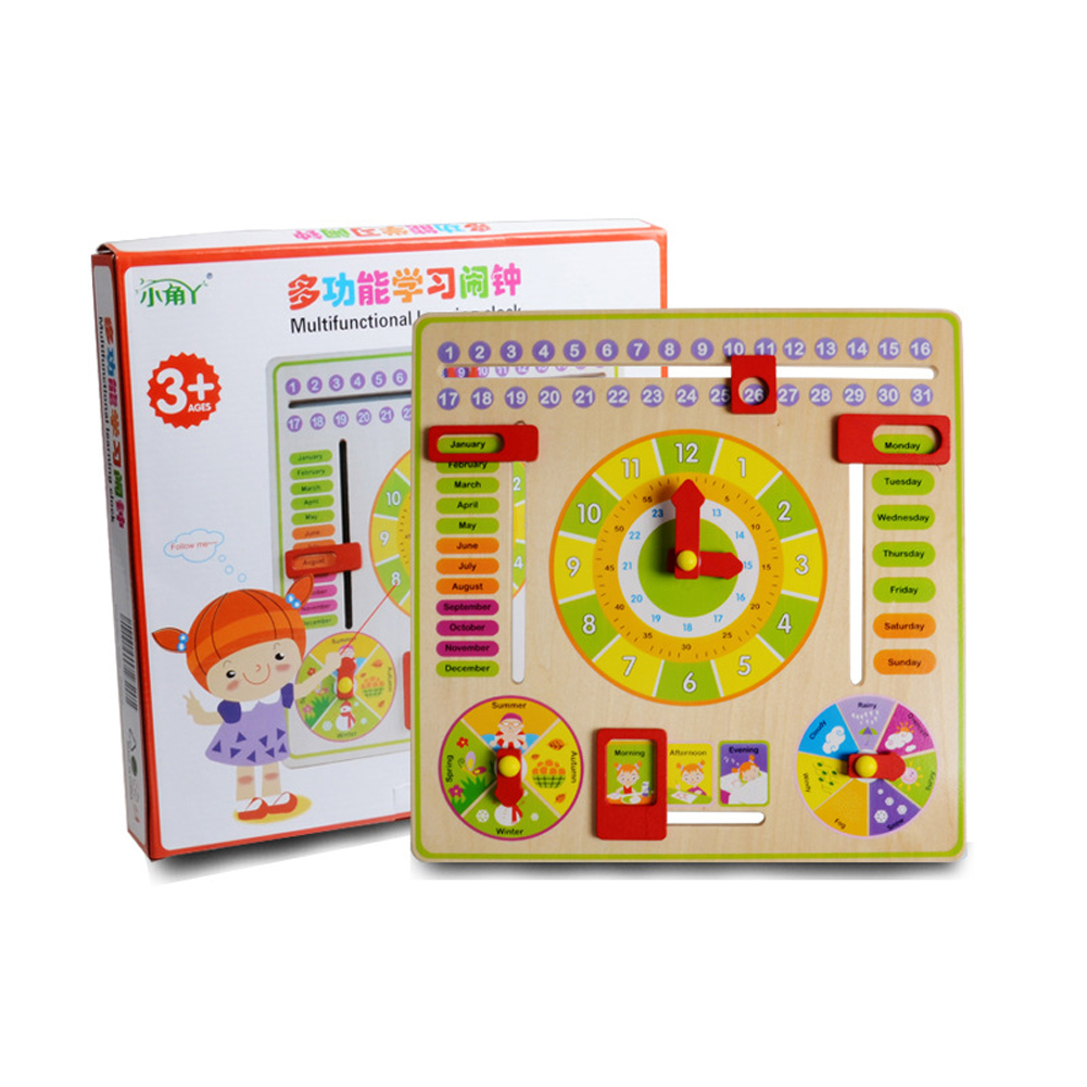 Wooden Clock Math Toy For Baby Kids Date Learning Developmental Versatile Flap Abacus Wooden Creative Educational Toy kids baby wooden toy small abacus handcrafted educational toys children high quality early learning math toy brinquedos juguets