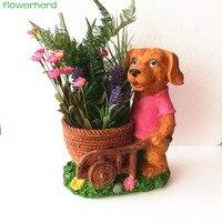 22x27cm Modern Cartoon Succulent Planter Pot Resin Creative Handicraft Animals Kawaii Dog Shape Desktop Decoration Flower