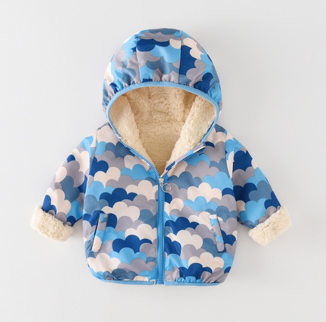 Baby Girls Jackets 2018 Autumn Winter Jackets For Boys Jacket Kids Warm Hooded Outerwear Coats For Boys Coat Children Clothes