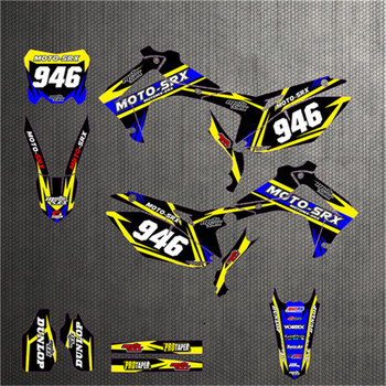 CRF250r Customized Fairing Graphics Stickers Decal Cover Set For Honda CRF250R CRF250 R 2014 2015 2016 Personlized deco Kit