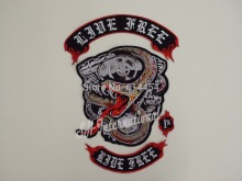 Huge Snake Embroidery Patches Motorcycle Biker for Jacket Back RIDE FREE 34cm * 45 cm