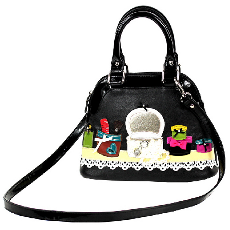 Femmes sacs à bandoulière en cuir Patchwork broderie Messenger sac sacs à main Totes Braccialini Style Art dessin animé boîtes à bijoux