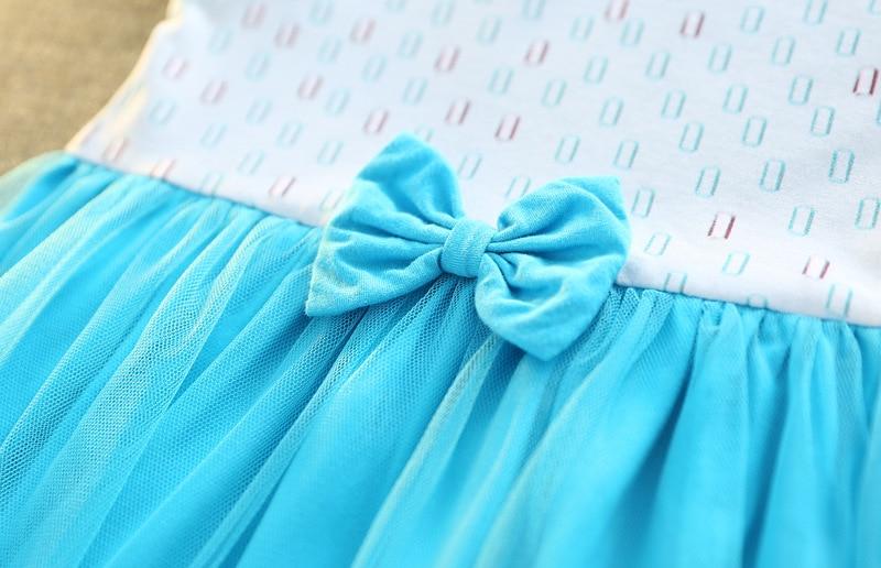 Pequeño Niñas Elsa Vestidos patchwork arco princesa Anna Elsa ...
