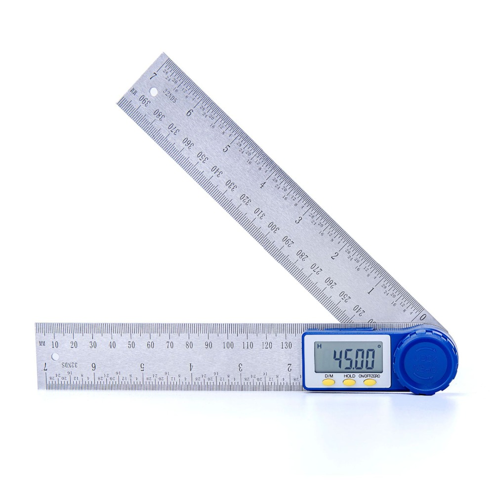 200mm Digital Angle Ruler Protractor Angle Finder Stainless Steel Inclinometer Goniometer Electronic Angle Measurement Tool