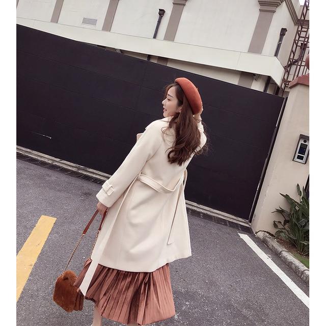 autumn and winter woolen coat female Mid-Long 3