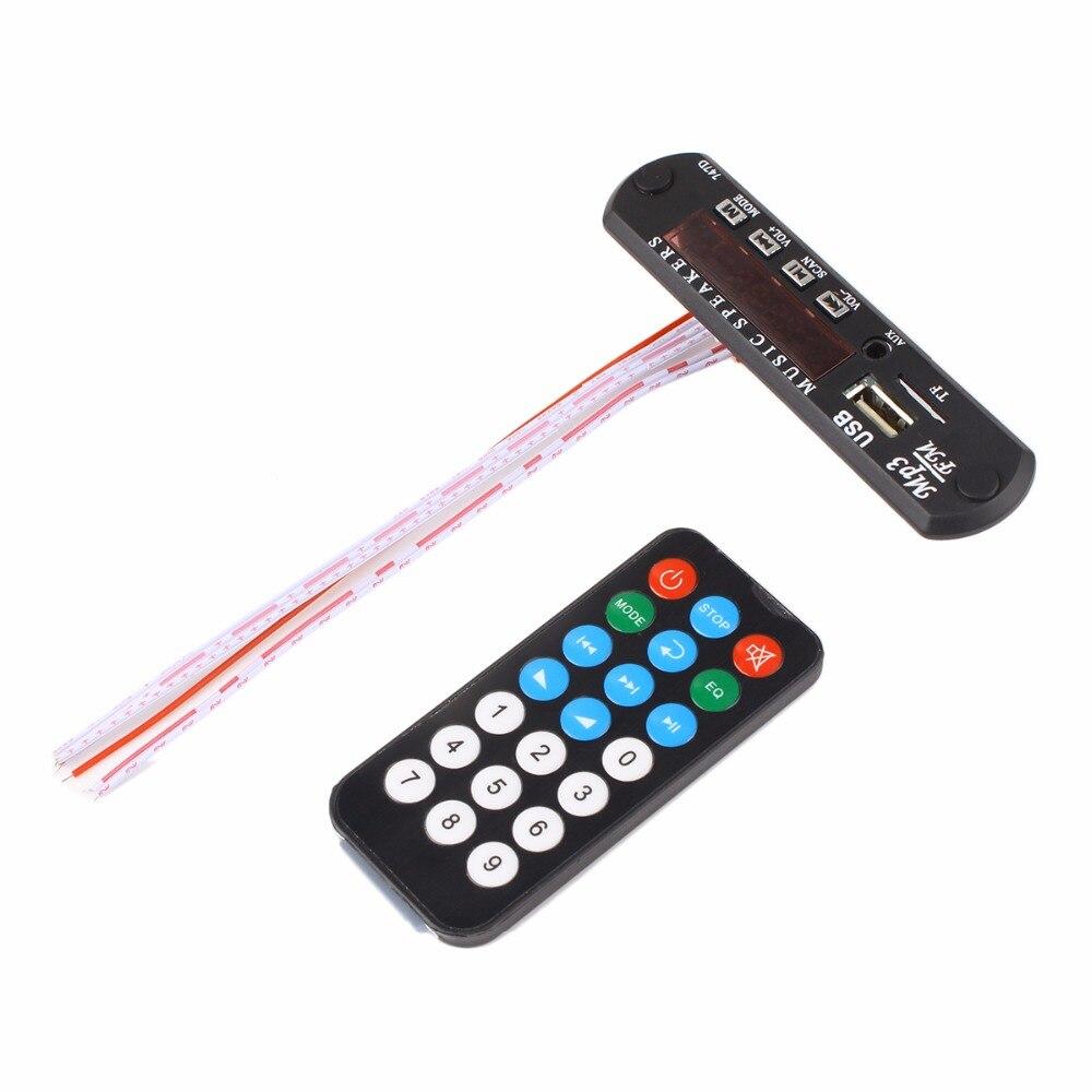 12V Micro Music Speaker USB Power Supply TF Radio MP3 Decoder Board Audio Module For Car Radio Remote Control Black Color