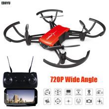 EBOYU 1802 4CH 720P Wide Angle HD Camera Wifi FPV Drone with Altitude Hold One Key Return Headless Mode RC Quadcopter Drone RTF