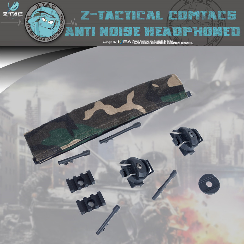 Z-Tactical Z-TAC Military Peltor Headset PTT Z046 Helmet Rail Adapter Set For COMTAC I II Microphone Accessories