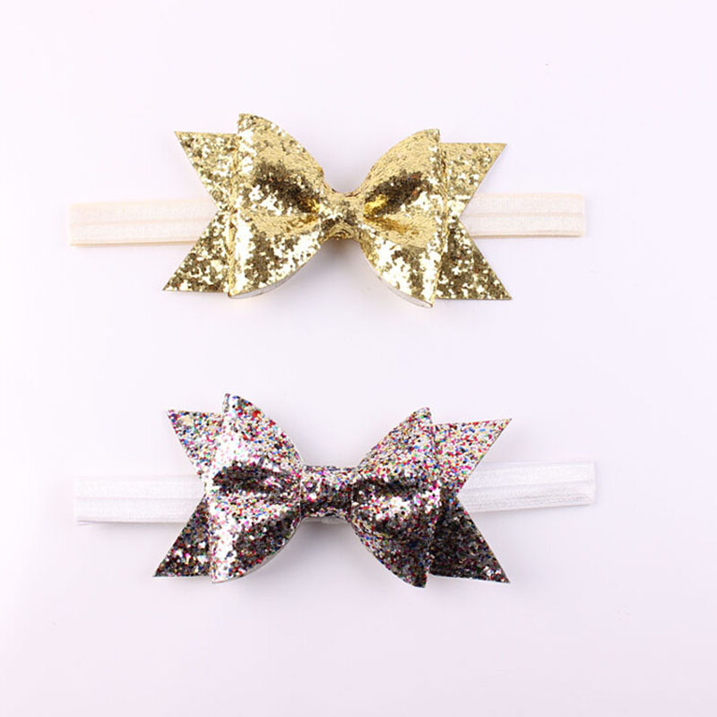 Baby Girl Glittery Bow Headbands