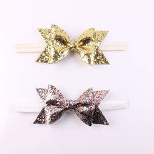1 Pcs Gold Glitter Bow Headband สำหรับ(China)