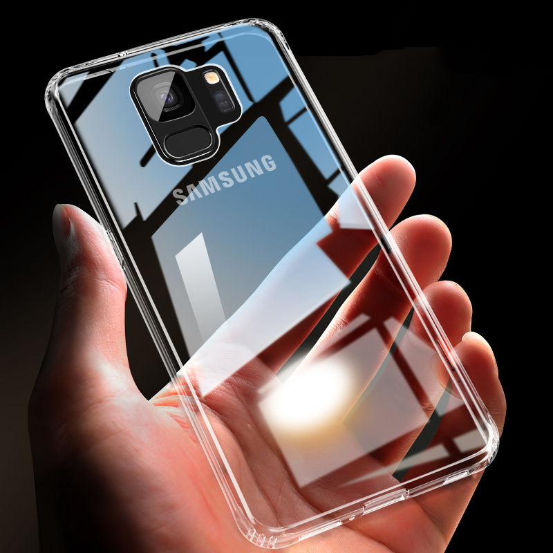 ZNP Luxury Anti-knock Silicone Case For Samsung S8 S9 Plus Transparent Back Cover Case For Samsung S7 Edge Note 8 9 Phone Case(China)