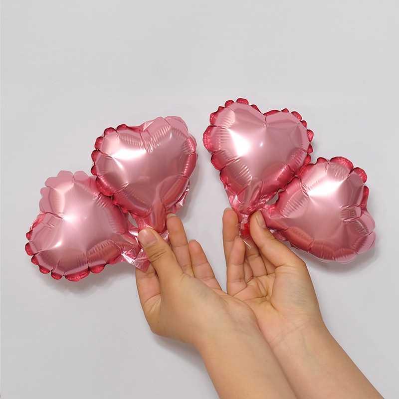 5 pulgadas de papel de aluminio globo corazón globo boda decoración plata oro corazón globos cumpleaños Baby Shower boda fiesta suministros