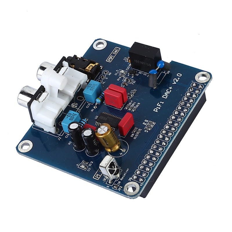 PIFI Digi DAC+HIFI DAC Audio Sound Card Module I2S interface for Raspberry pi 3 2 Model B B+Digital Pinboard V2.0 Board SC08 raspberry pi 3 audio sound card module i2s interface hifi dac expansion board black acrylic case for raspberry pi 2 3 model b